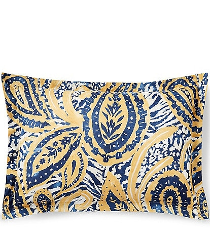 Ralph Lauren Parrot Cay Collection Rhylee Paisley Percale Sham