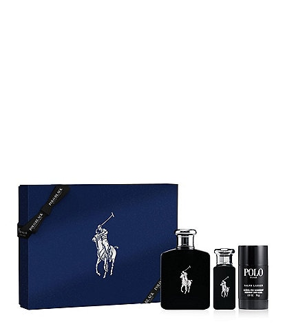 Ralph Lauren Polo Black Eau de Toilette 3-Piece Gift Set
