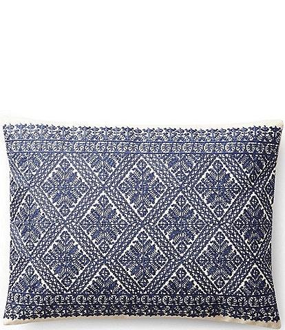 Ralph Lauren Remy Haywood Embroidered Breakfast Pillow