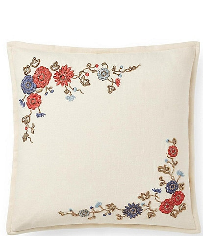 Ralph Lauren Remy Macall Embroidered Square Pillow