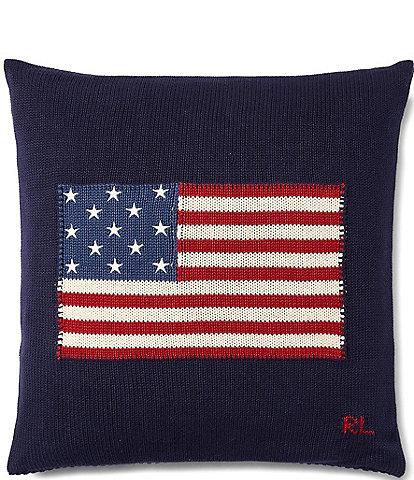 Ralph Lauren RL67 Flag Cotton Pillow