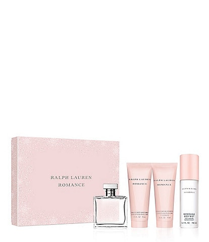 Ralph Lauren Romance Eau de Parfum 4-Piece Holiday Gift Set for Women