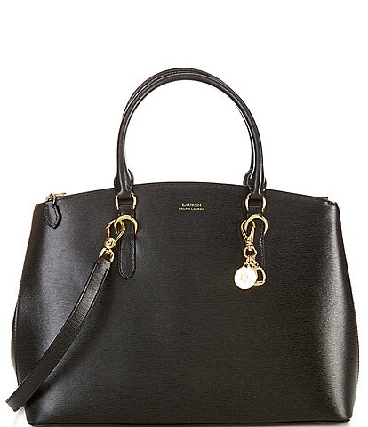 Ralph Lauren Saffiano Double Zip Satchel Bag