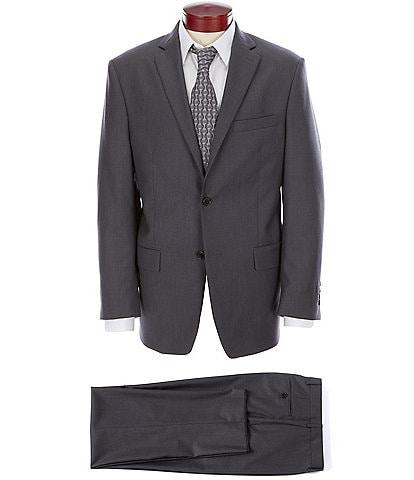 Ralph Ralph Lauren Athletic Fit Charcoal Flat Front Solid Wool Suit
