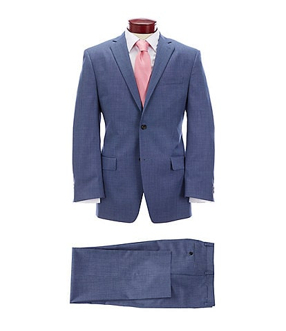 Ralph Ralph Lauren Athletic Fit Fancy Blue Wool Suit