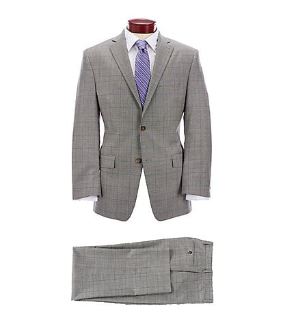 Ralph Ralph Lauren Athletic Fit Grey Plaid Wool Suit