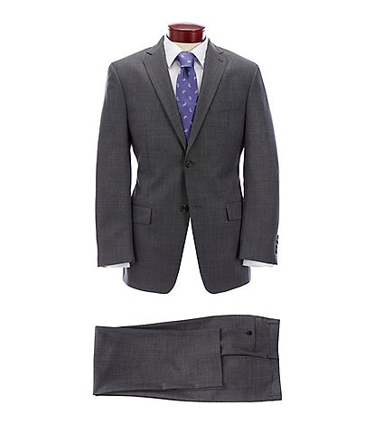 Ralph Ralph Lauren Athletic Fit Solid Grey Wool Suit