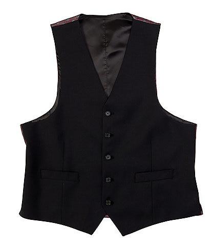 Ralph Ralph Lauren Classic Fit Black Solid Wool Vest