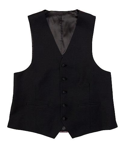 Ralph Ralph Lauren Classic Fit Black Wool Tuxedo Vest