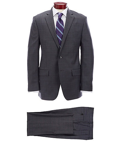 Ralph Ralph Lauren Classic Fit Pleated Charcoal Plaid Wool Suit