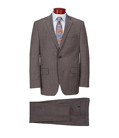 Ralph Ralph Lauren Classic Fit Fancy Brown Wool Suit