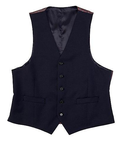 Ralph Ralph Lauren Classic Fit Navy Solid Wool Vest