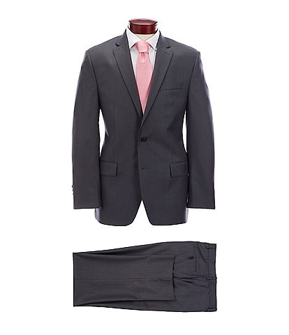 Ralph Ralph Lauren Classic Fit Solid Charcoal Wool Suit