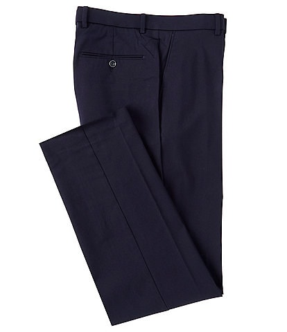 Ralph Ralph Lauren Flat-Front Solid Color Stretch Fabric Modern Fit Dress Pants
