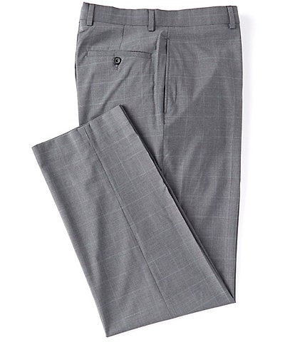Ralph Ralph Lauren Relaxed Fit Flat-Front Plaid Plain Hem Dress Pants