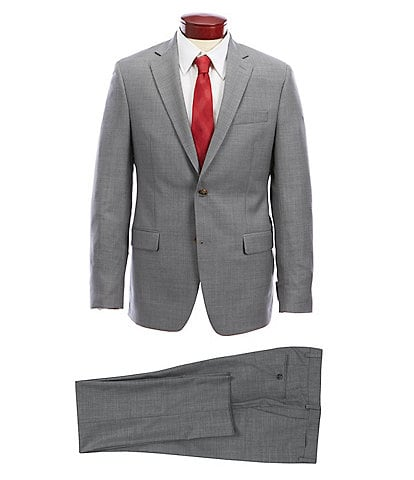 Ralph Ralph Lauren Slim Fit Solid Light Grey Wool Suit
