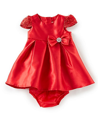 Rare Editions Baby Girls 12-24 Months Mikado Fit-And-Flare Dress