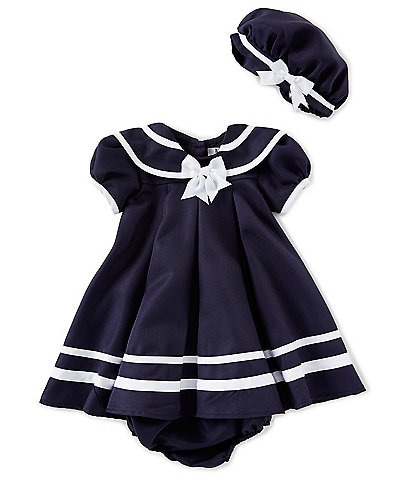 55747b6a3df Rare Editions Baby Girls 12-24 Months Sailor-Collar A-Line Dress