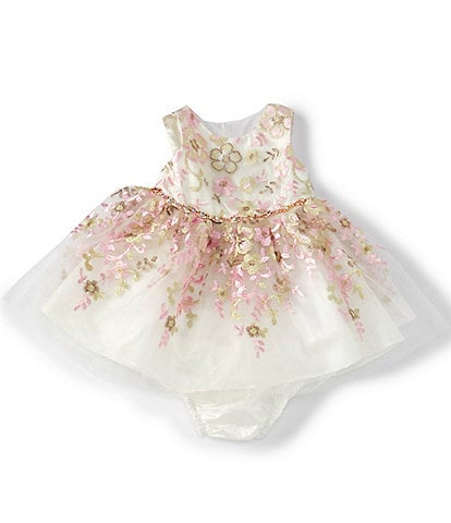 Rare Editions Baby Girls 3-24 Months Floral-Embroidered Fit-And-Flare Dress