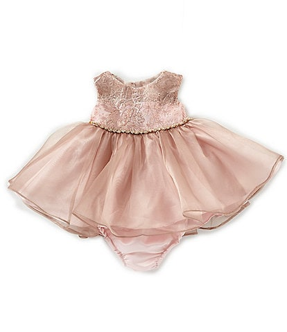 Rare Editions Baby Girls 3-24 Months Lace-Embroidered Organza Dress