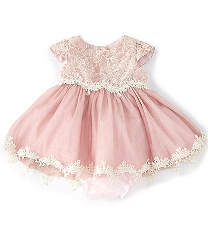 Rare Editions Baby Girls 3-24 Months Lace/Mesh Fit-And-Flare Dress