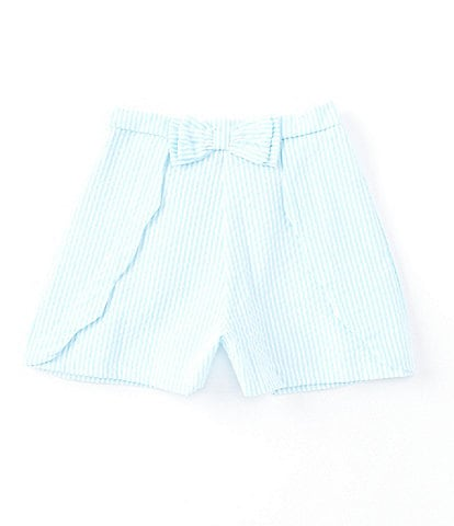 Rare Editions Big Girls 7-12 Seersucker Gingham Scallop-Trim Shorts