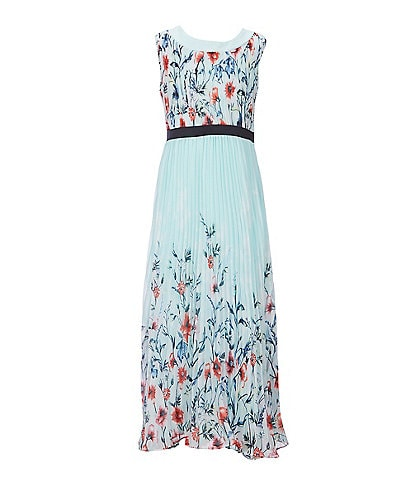 Rare Editions Big Girls 7-16 Floral-Printed A-Line Maxi Dress
