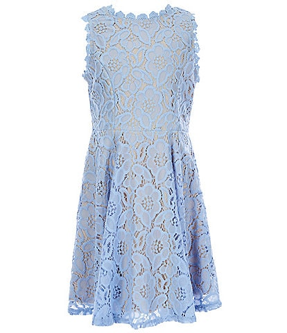 Rare Editions Big Girls 7-16 Lace Fit-And-Flare Dress