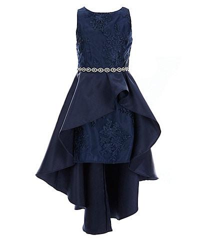 Rare Editions Big Girls 7-16 Sleeveless Embroidered Mikado Dress