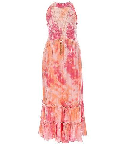 Rare Editions Big Girls 7-16 Smocked Tie-Dye Maxi Dress
