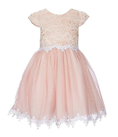 Rare Editions Little Girls 2T-6X Crocheted Lace Fit-And-Flare Dress