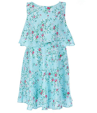 Rare Editions Little Girls 2T-6X Ditsy-Floral Popover Dress