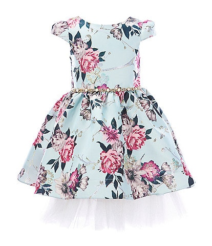 Rare Editions Little Girls 2T-6X Floral Metallic-Jacquard Fit-And-Flare Dress