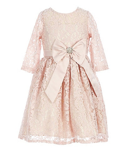 Rare Editions Little Girls 2T-6X Lace-Overlay Fit & Flare Dress