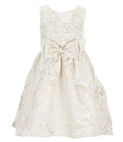 Rare Editions Little Girls 2T-6X Sleeveless Lurex Metallic Jacquard Brocade Fit-And-Flare Dress