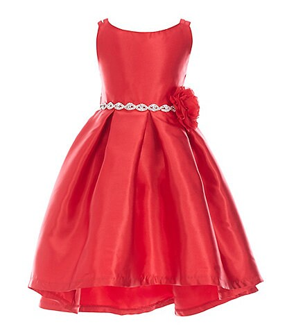 Rare Editions Little Girls 2T-6X Sleeveless Mikado Hi-Low Dress