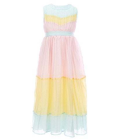 Rare Editions Little Girls 4-6X Colorblock Accordion-Pleated Maxi Dress