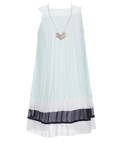 Rare Editions Little Girls 4-6X Colorblock Pleated Shift Dress