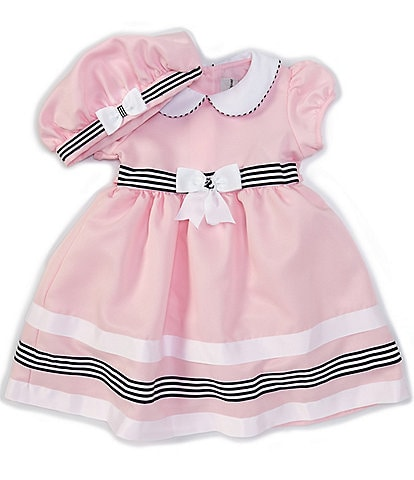 Rare Editions Toddler Girls 2T-4T Stripe-Trim Nautical Fit-And-Flare Dress