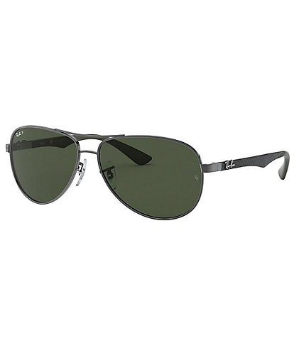 Ray-Ban Aviator Polarized 58mm Green Lens Sunglasses