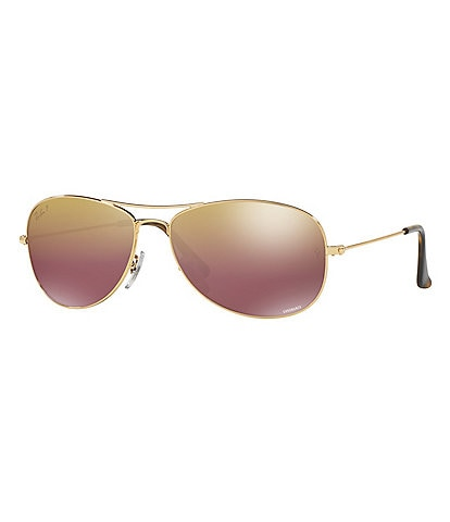 178fbb827e Ray-Ban Chromance Polarized Mirrored Aviator Sunglasses