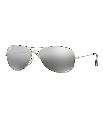 Ray-Ban Chromance Polarized Mirrored Aviator Sunglasses