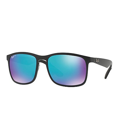 Ray-Ban Chromance Square Polarized Flash/Mirror Sunglasses