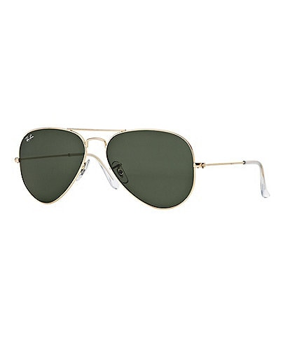 3f72fb423f5 Ray-Ban Double-Bridge Metal Aviator Sunglasses