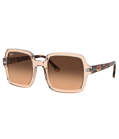 Ray-Ban High Street Transparent Acetate Frame Square Sunglasses