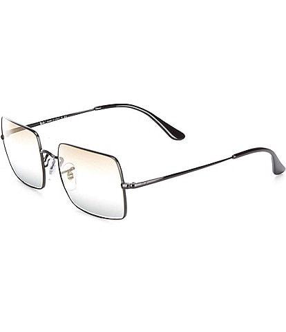 Ray-Ban Icons Gold Metal Rectangle Sunglasses