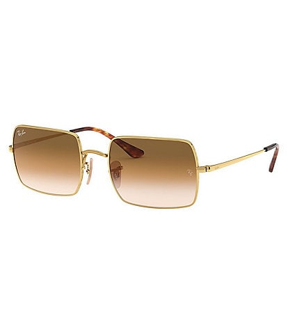 Ray-Ban Icons Gold Metal Rectangle Sunglasses