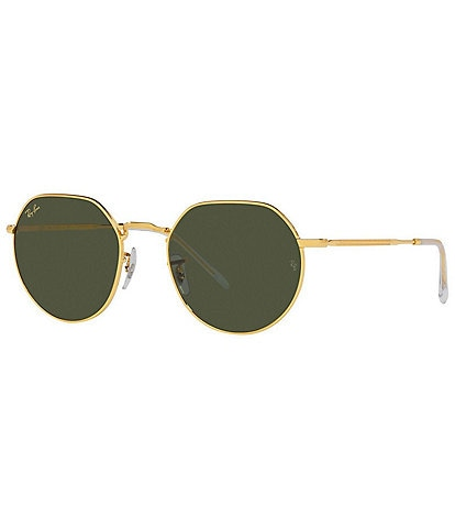 Ray-Ban Jack Rb3565 53mm Gold Sunglasses
