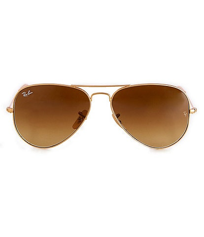 a8d7bce7a2 Ray-Ban Large Metal Double Bridge Aviator Sunglasses