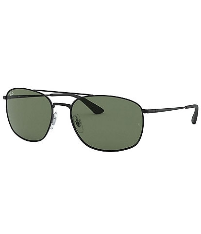 Ray-Ban Men's Metal Frame Square Sunglasses